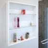 PATELLO WHITE GLASS SHELF WALL STORAGE Ellegant Cabinet for Bathroom