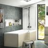 Pemberton L shape Right Hand Shower Bath Gold - 179058