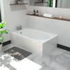 small 1200 white bath
