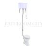 Traditional Regal High level toilet pan with White Aluminium cistern and flush kit
