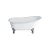 Romano Grande free standing slipper bath Large Claw foot (Chrome) Contemporary Bathroom