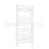 Round White Electric Bathroom Towel Rail