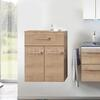 Solitaire 6025 Small bathroom storgae cupboard 2 doors - 178360