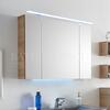 Solitaire 6025 mirror cabinet incl LED top light - 178379