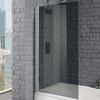 Square Edge Bath Screen Smoked Glass 1400x800 8mm - 178405