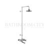 Tay Thermostatic Bath Shower Mixer Wall Mounted with Swivel Shower Arm (6 inch shower)