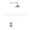 round Trent Thermostatic Single Outlet Concealed Shower Valve with Fixed Shower Arm and 6inch head single function