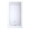 quality rectangle Trojan Elite Solo Single ended 5mm White Bath
