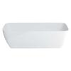 Vicenza Grande Clear Stone Freestanding Stylish White Bath