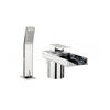 deluxe CHROME waterfall bath mixer tap with shower attachement lever Handle