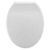 White Standard Round Soft Close Quick Release Toilet Seat