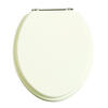 Wooden Toilet seat White Ash/Chrome High Quality