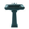 Astoria Deco Small Basin 520mm Black With Small Pedestal Straight High Quality Bathroom Design