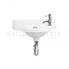 traditional Burlington Curved Cloakroom Basin 1TH right
