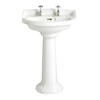 Dorchester High Quality Traditional Design White Medium Basin And Pedestal