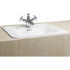 Fully Inset Vanity Basin 54cm Recessed Unique Timeless Design Bathroom Wasbasin