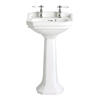 Granley High Quality Traditional Design Cloakroom Basin And Tall Pedestal Easy To Install