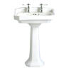 Granley High Quality Traditional Design White Bathroom Basin Standard And Pedestal