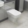 BC Square Contemporary Back To Wall Pan with Soft Close Toilet Seat