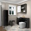 Hacienda 1500 Fitted Furniture Pack Black High Quality Bathroom