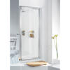Lakes Framed Pivot Door 750 X 1850 White Shower Enclosure Fashionable Bathroom