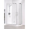 Lakes Reduced Height 1000x800x1750 Offset Quad Shower Enclosure Silver