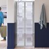 Lakes Silver Semi Framed Bifold Door 900 X 1850 Shower Enclosure Fashionable Stylish Bathroom Accessory