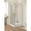 Lakes Silver Semi Framed Corner Entry Minimal Shower Cabin Stylish Stylish Bathroom Accessory