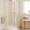Lakes Silver Semi Framed Quadrant Shower Enclosure Contemporary Bathroom