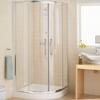 Lakes Silver Semi Framed Quadrant Shower Enclosure Contemporary Bathroom