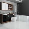 Lucido L Shape 1500 Furniture Suite Black Shower Bathroom Contemporary