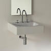 Luxor 600mm Wall Hung Basin Straight Line Square Shape Designer and Stylish Bathroom Ceramic White Washbasin
