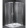 Reduced Height Quadrent Enclosure Silver Designer Bathroom