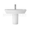 modern contempory Maya 650mm Basin & Semi Pedestal