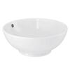 Round 420mm Vessel No Tap Hole Sit-On Contemporary Bathroom Wash Basin
