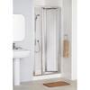 Silver Framed Bi-fold Door 800 X 1850 Enclosure Designer Bathroom
