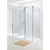 Silver Semi Framed Walk In Enclosure for Ellegant Bathroom