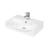 modern contempory small cloakroom Wall Hung vessel basin 1TH