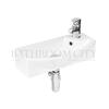 modern quality small cloakroom Wall Hung vessel basin LH or RH