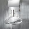 Tilly Corner Wall Hung Mounted Bathroom And Cloakroom Wash Basin