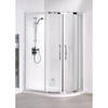 White Semi Framed Quadrant Shower Cubicle Ellegant Bathroom